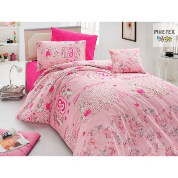 Sweet rózsa, 3 részes ágyneműhuzat garnitúra