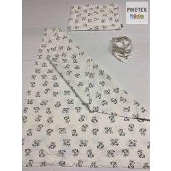 Kutyusos pamut takaró szett+nyálkendő