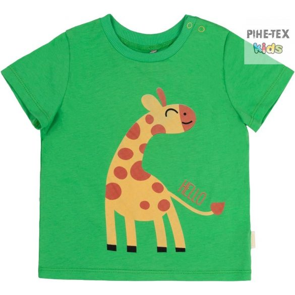 Bembi zöld, kisfiú póló, zsiráf mintával  (FB691)