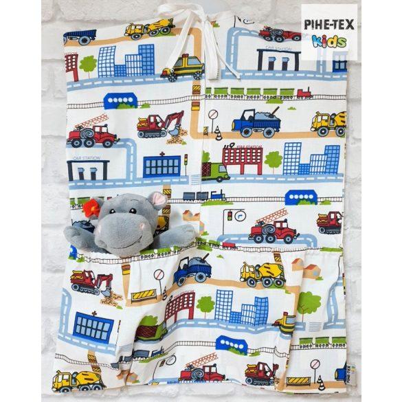 Tesz-vesz város, 5 részes ovis kezdőcsomag (2 részes fehér, ovis huzat, ovis zsák, tornazsák, óvodai derékalj) + ajándék ovis törölköző