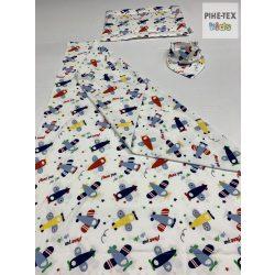 Repülős pamut takaró szett+nyálkendő