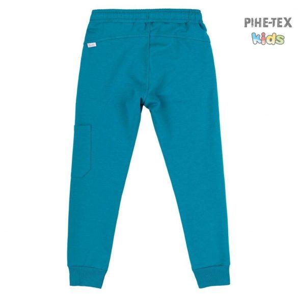 Bembi fiú kék melegítő nadrág, oldalt zsebbel (SHR603)