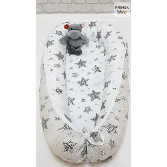 Csíkos Csillagok, fehér-szürke babafészek (121/F-Sz)
