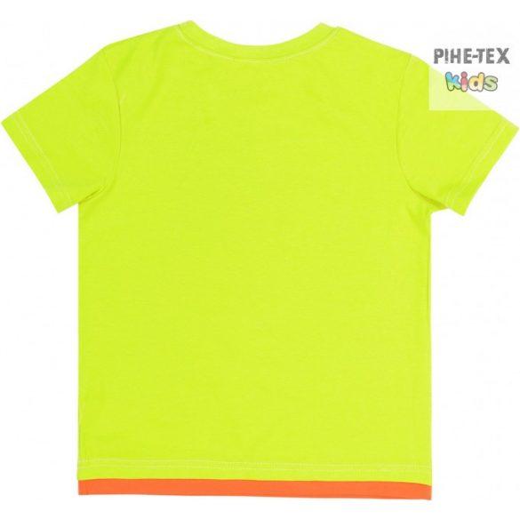 Bembi zöld-narancs, fiú póló, bikers felirattal (FB696)