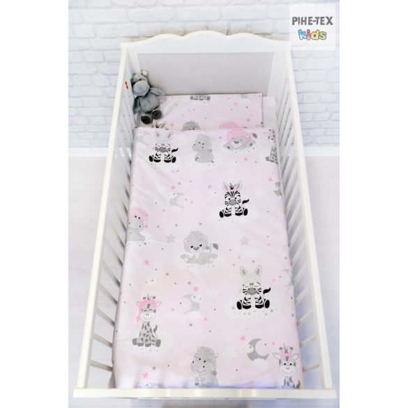 Afrikai Álom,rózsaszín  2 részes babaágynemű szett (533/R)