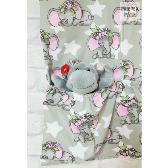 Rózsás elefánt ovis zsák (603)