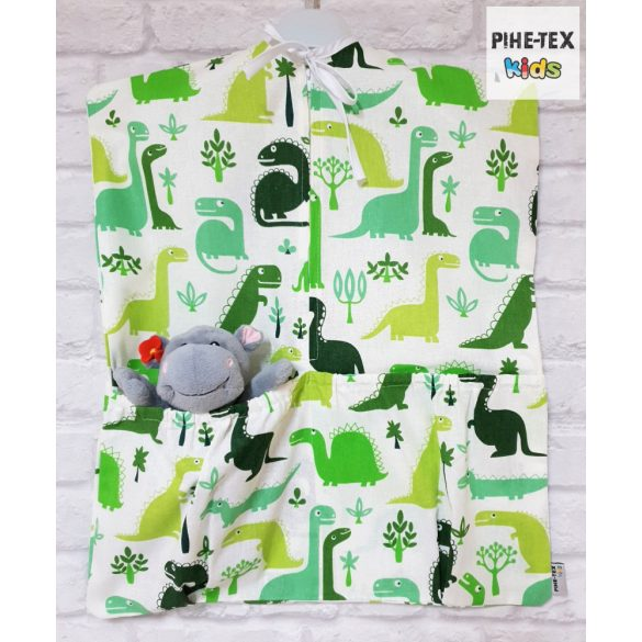 Dinópark zöld, 4 részes ovis kezdőcsomag (2 részes mintás, ovis zsák, tornazsák, vízhatlan matracvédő lepedő) + ajándék ovis törölköző