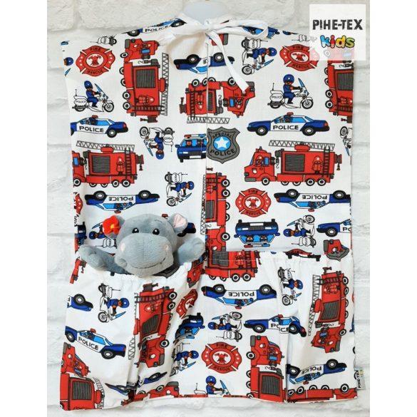 Tűzoltós, 5 részes ovis kezdőcsomag (2 részes fehér, ovis huzat, ovis zsák, tornazsák, óvodai derékalj) + ajándék ovis törölköző