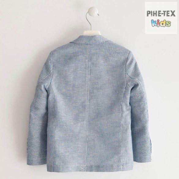 iDO fiú, kék-csíkos, zakó kabát (J461/0-3654)