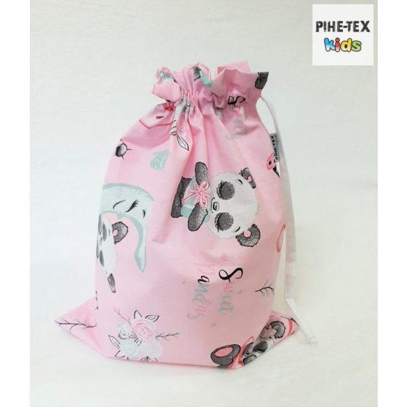 Sweet Panda, rózsa, 5 részes ovis kezdőcsomag (2 részes fehér, ovis huzat, ovis zsák, tornazsák, óvodai derékalj) + ajándék ovis törölköző
