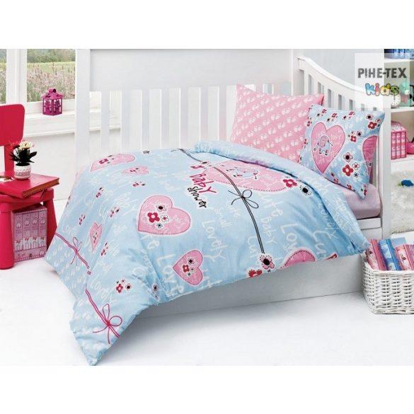 Baby Shower kék  ovis,ágynemű huzat 90x135 cm