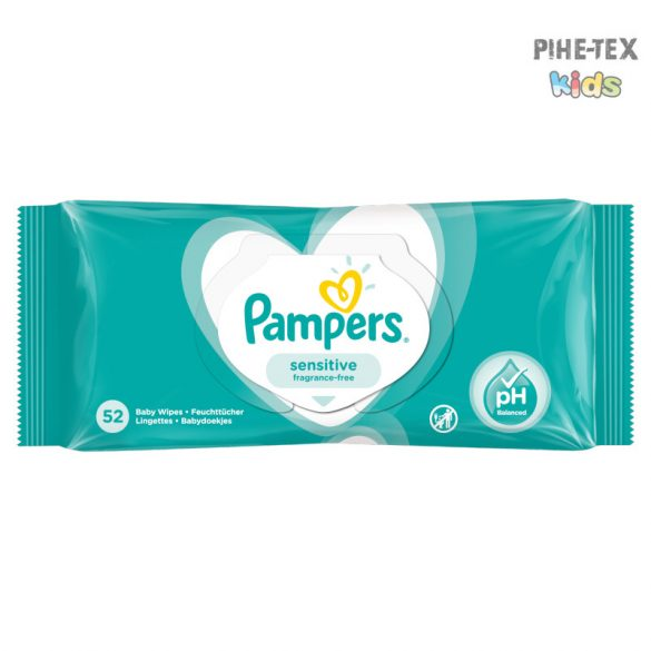 Pampers törlőkendő Sensitive 52 lapos
