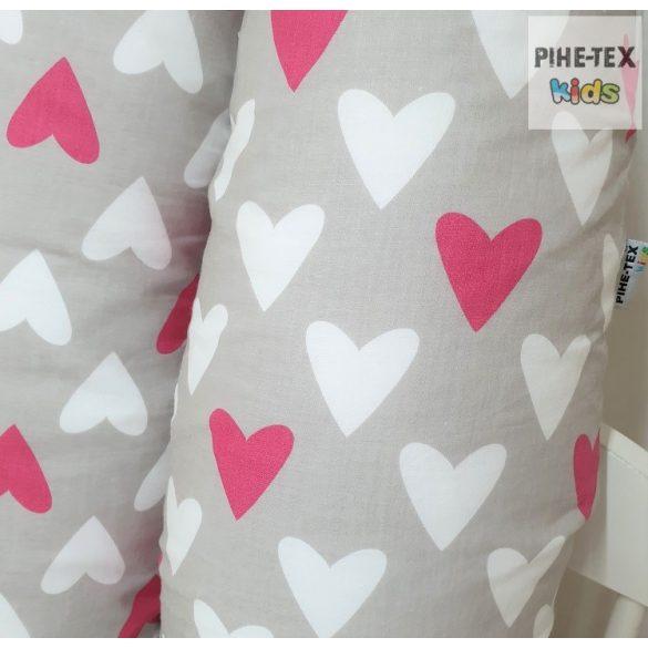 Bézs-pink szívecskék,  kismama párna (122)