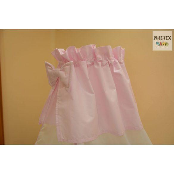 Rózsaszín, hímzett méhecskés 4 részes babaágynemű szett (99)