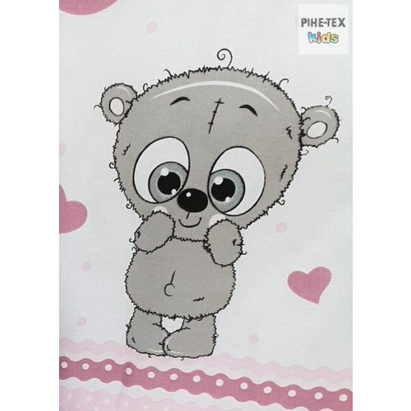 Cuki Állatok, Rózsa- 3 részes babaágynemű szett (576/R)