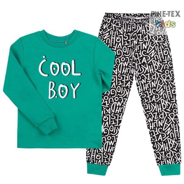 Bembi 2 részes fiú pizsama szett, fekete-zöld, Cool Boy (PG39)