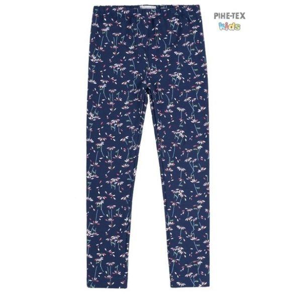 Bembi sötét, virág mintás leggings kislányoknak (SHR268)