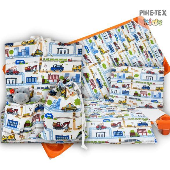 Tesz-vesz város, 4 részes ovis kezdőcsomag (2 részes mintás, ovis zsák, tornazsák, óvodai derékalj) + ajándék ovis törölköző
