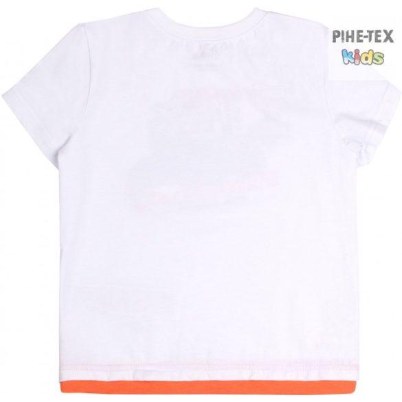 Bembi fehér, fiú póló, vintage hot road felirattal (FB696)