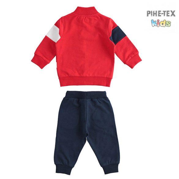 iDO 2 részes fiú szett, piros-fekete, melegítő nadrággal (J269/00-8010)