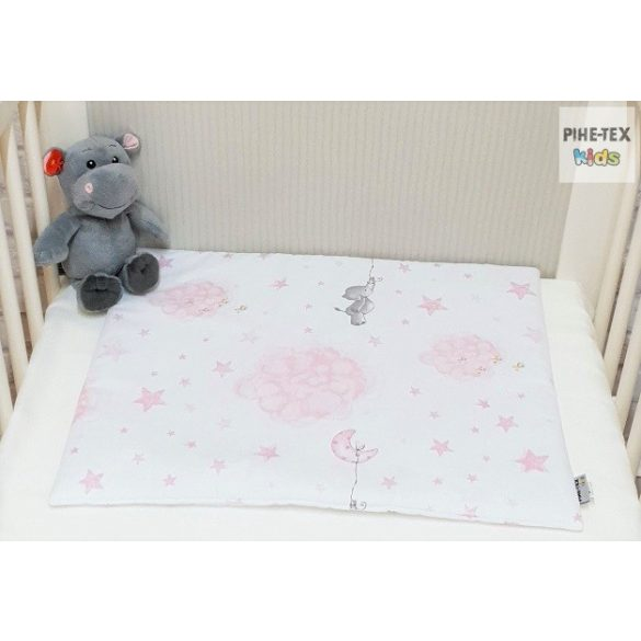 Bébi elefánt,rózsaszín- 4 részes babaágynemű szett (582/R)