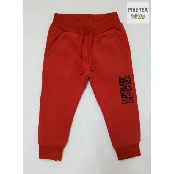 iDO 2 részes fiú szett, piros-szürke, melegítő nadrággal (K554/00-8016)