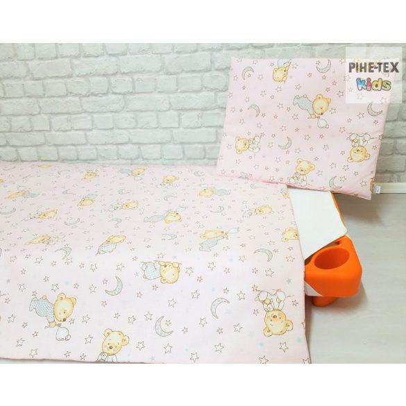 Buborékos maci, rózsa,   gyermek,-ovis ágynemű 90x140  (561/R)