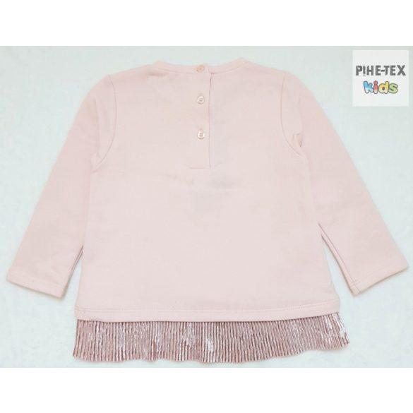iDO lány, rózsaszín, hosszú ujjú felső, nyomott mintával (K681/00-2715)