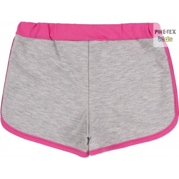 Bembi pink-szürke, kislány nyári rövidnadrág (SHR599)