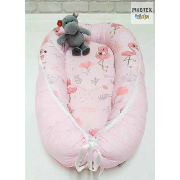 Flamingó, Rózsa pöttyös babafészek (571/R/2)