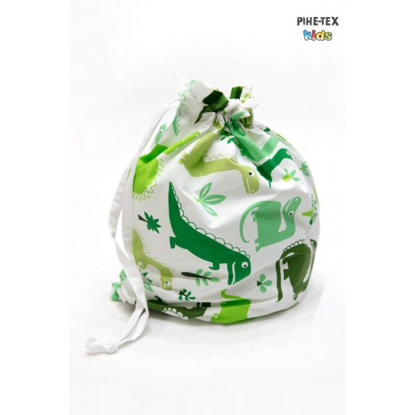 Dinópark, zöld, 4 részes ovis kezdőcsomag (2 részes mintás, ovis zsák, tornazsák, óvodai derékalj) + ajándék ovis törölköző
