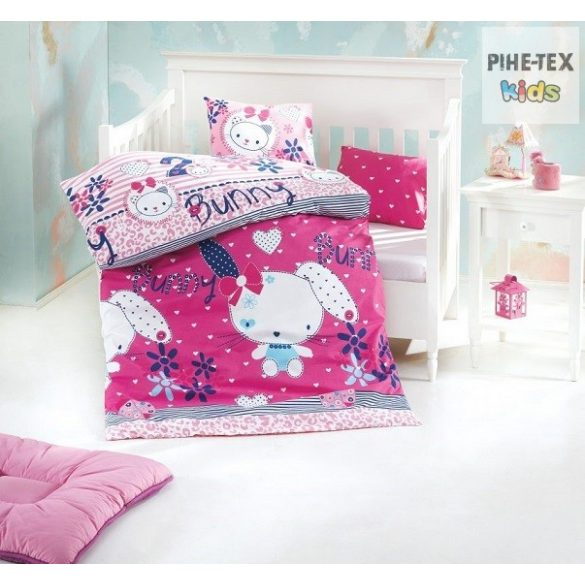 Bunny nyuszilány ovis,ágynemű huzat 90x135 cm