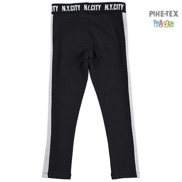 iDO lány, fekete-ezüst leggings (J536/00-0658)