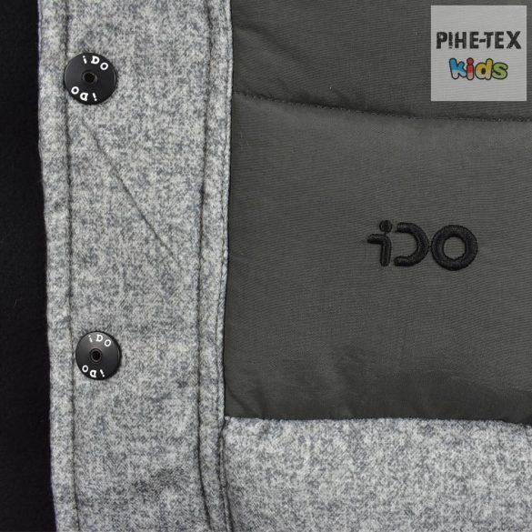 iDO fiú, szürke, levehető kapucnis, steppelt kabát (K595/00-6LE7)