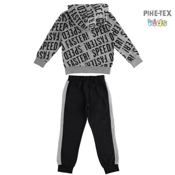 iDO 2 részes szürke-fekete, fiú szett, melegítő nadrággal (K823/00-8067)
