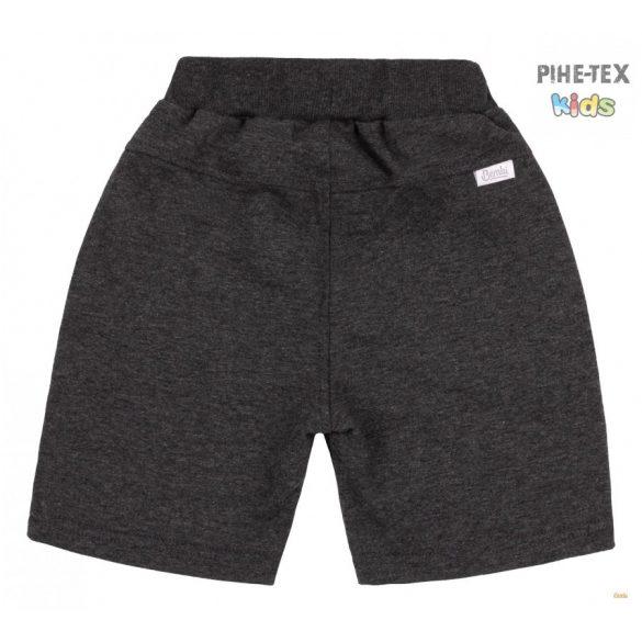 Bembi kisfiú sötétszürke rövidnadrág, oldalán nyomott mintával (SHR590)