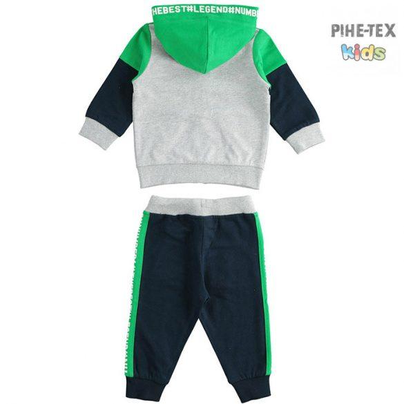 iDO 2 részes fiú szett, szürke-fekete-zöld, melegítő nadrággal (J266/00-8014)