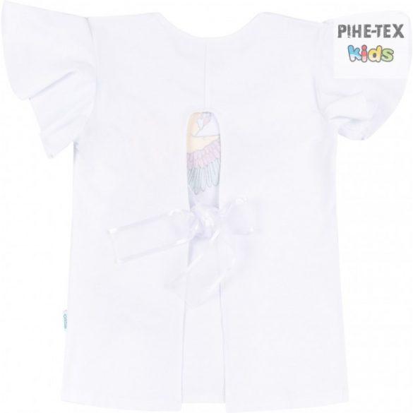 Bembi fehér, nyári kislány póló, papagáj mintával (FB720)