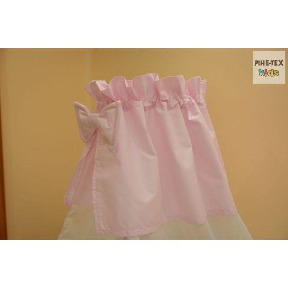Rózsaszín, hímzett fekvős maci 4 részes babaágynemű szett (99)