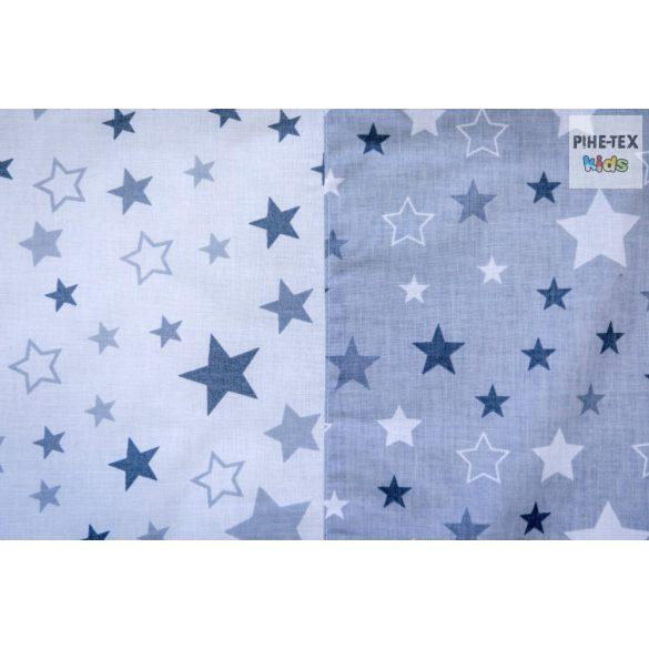 Nagy csillagok,szürke,  gyermek-, ovis ágynemű huzat (118/F-Sz)