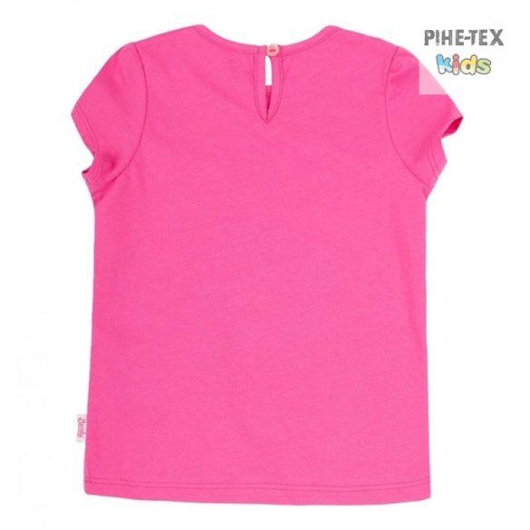 Bembi pink, kislány póló, nyomott virág mintával (FB701)