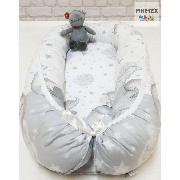 Bébi elefánt szürke- babafészek (582/Sz)