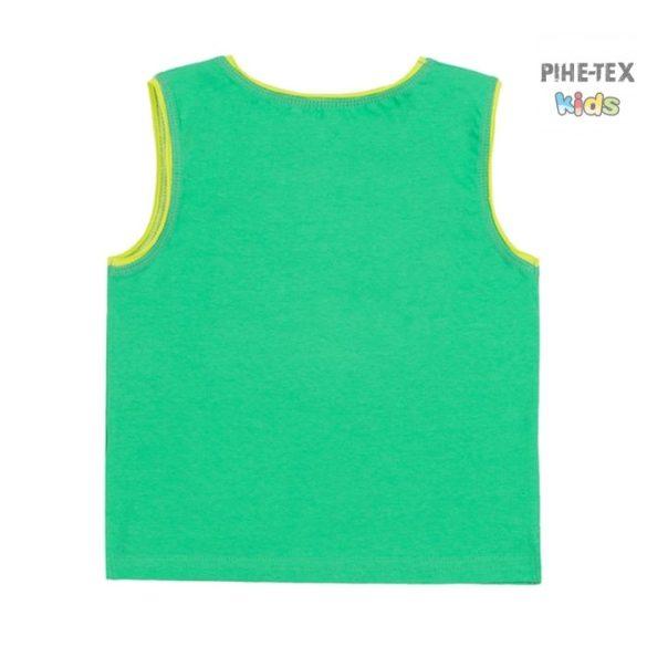 Bembi zöld, fiú nyári trikó, Surfing felirattal  (FB699)