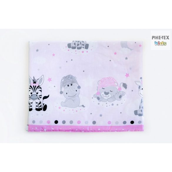 Afrikai Álom, rózsaszín  3 részes babaágynemű garnitúra (533/R)