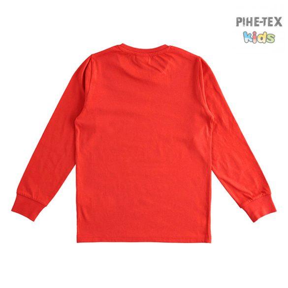 iDO fiú, piros, hosszú ujjú felső, nyomott mintával (J393/00-2235)