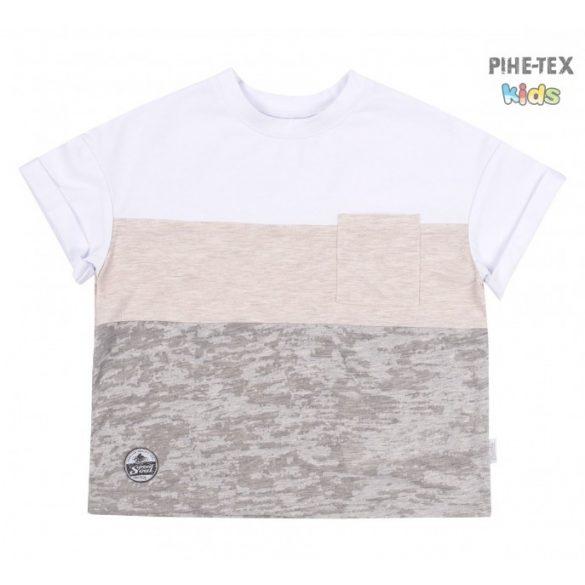 Bembi fehér-bézs-szürke, fiú póló (FB698)
