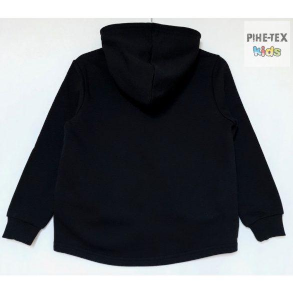 iDO lány, fekete, nyomott mintás, pulóver (K852/00-0658)