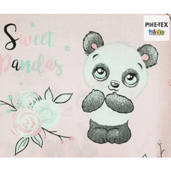 Sweet panda rózsa, óvodai derékalj  (579/R)