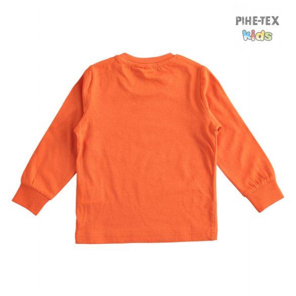 iDO fiú, narancs, hosszú ujjú felső, nyomott mintával (J228/00-2213)