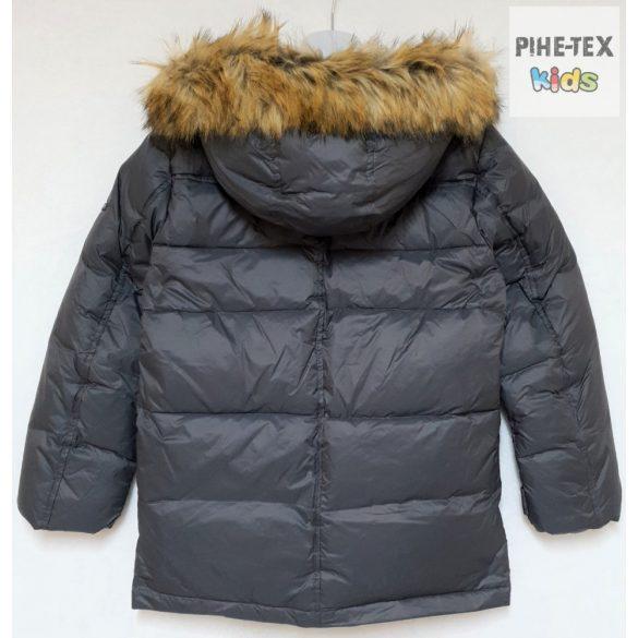 iDO fiú, szürke, kapucnis, steppelt kabát (K807/00-0567)